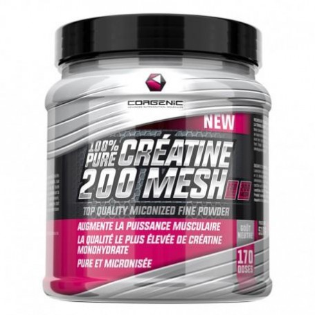 100% Pure créatine 200 mesh - Corgenic